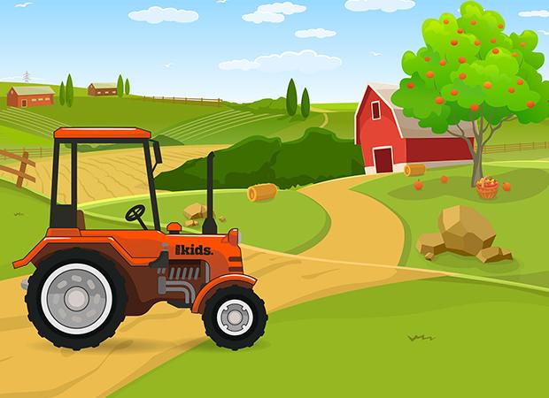 Farm Scene Background