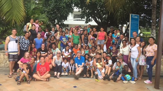 First team visits Sponsored Children in Colombia