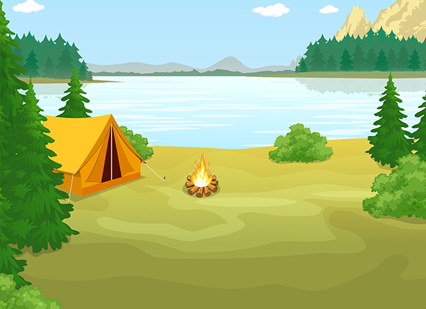Camp Site Background