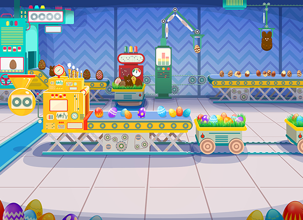 Easter Fun Factory Background