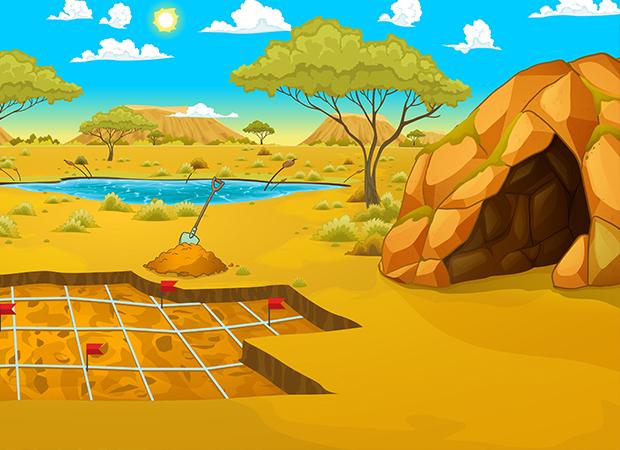 Archeological Dig Background