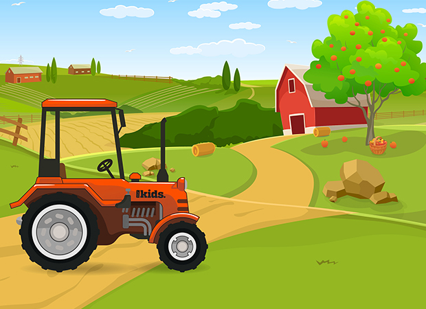 Farm Scene Background
