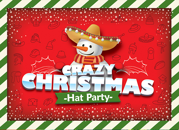 Crazy Christmas Hat Party