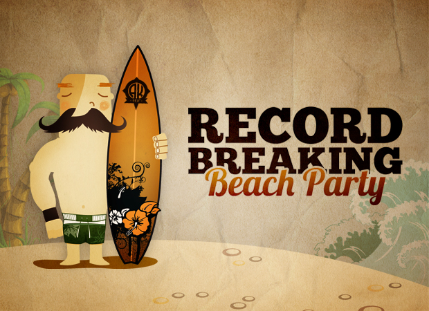 Record Breaking Beach Party