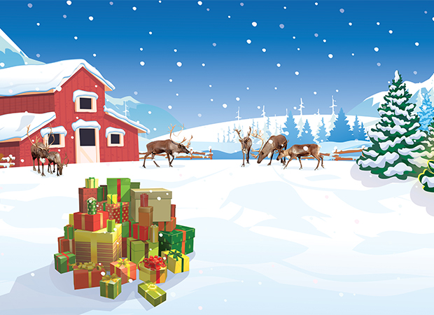 Reindeer Farm Background
